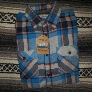 🆕Gioberti   Plaid Button Down Shirt Mens Medium